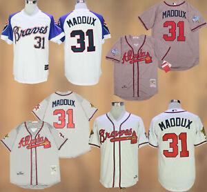 Atlanta Braves #31 Greg Maddux Cool Base Men's Stitched Jersey Free Shipping