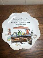 "Vintage 8"" BLESS MY LITTLE KITCHEN, GOD Lefton Wall Plate"