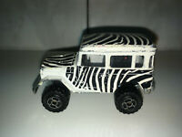 RARE VINTAGE Majorette No.277 Toyota 4x4 Safari Jeep Zebra Colors Very Rare