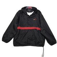 MS Bike Tour Holloway 1/4 Zip Wind Breaker Packable Jacket Mens XXL 2XL Black