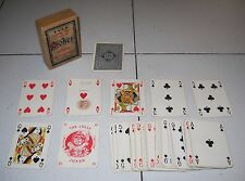 Carte da giuoco Poker telate ARMANINO Roma 1937 Regno d'Italia Playing cards