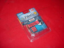 Lot of 5x - NEW Brother TZ-741 P-Touch Laminating Compatible Black on Red Tape