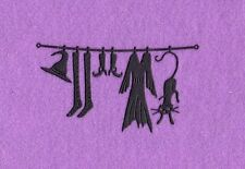 WITCHES CLOTHES halloween die cuts scrapbook cards