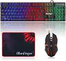 Bluefinger Rgb Gaming Keyboard And Backlit Mouse Combo, Usb Wired Backlit Keyboa