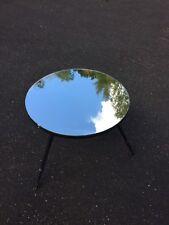 Ref 871 Petite Table Basse Design Dessus miroir Pieds fer Forgé