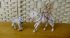 Retired Schleich Bayala Fairy Fena On Horse & Retired Bayala Schleich Pony