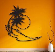 Wall Stickers Vinyl Decal Palm Beach Sea Sun Tropical Relax Home Decor (ig883)