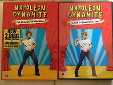 Jon heder- Caja Napoleon Dynamite ~2004 Culto Comedia ~ Disco 2GB DVD CON FUNDA