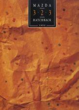 1992 Mazda 323 Hatchback USA Version Sales Brochure