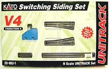 Kato 208631 N UNITRACK SWITCHING SIDING SET V4 Turnout #4 Left Right Track New I