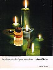 PUBLICITE  1967   PARFUM ROCHAS  MOUSTACHE  eau de Cologne eau de toilette