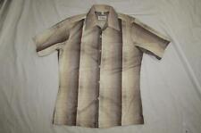 Vtg 70s JC Penney California Polyester Gradation Shirt Mod Disco Hippie Sz M