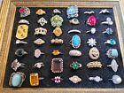 Antique, Vintage, Huge Jewellery Lot Costume Rings (43 In Total)