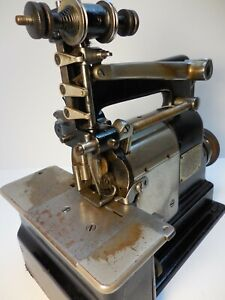 ANTIQUE / VINTAGE MERROW CROCHET / SHELL STITCH SEWING MACHINE 22F HARTFORD CONN
