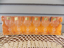 Set of 6 Vintage Luminarc Lance Verres 1 3/4 Ounce Clear Crystal Stemmed Glasses
