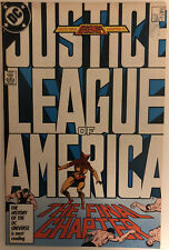 DC COMICS JUSTICE LEAGUE OF AMERICA #261 1987 Final Issue VFN