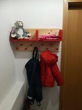 Kindergarderobe mit 2 Ablagen und 9 Garderobenhaken Garderobe Holz NEU
