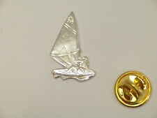 WIND SURF, SPILLA da giacca (PINS) in Argento 925 - vela - tavola - windsurfer