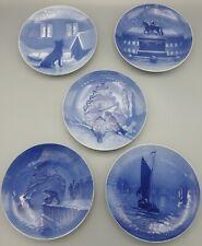 Bing & Grondahl Christmas Plates 5 Piece Set 1914, 1915, 1916, 1917, & 1918
