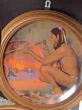 Gorham 1980 The Arrow Maker Couse American Indian Ltd Ed Plate Framed