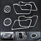 Chrome Dashboard Interior Air Vent Molding Trim Cover for 2011-15 Kia Sportage R