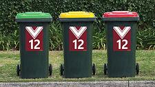 NRL MANLY SEA EAGLES League Wheelie Garbage Bin Rubbish Sticker House Number Dec