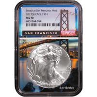 2017 (S) $1 American Silver Eagle NGC MS70 San Francisco Core
