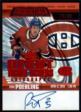 2019-20 Credentials Debut Ticket Access Auto Red  #RTAA-RP Ryan Poehling RC /65