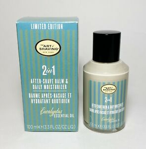 The Art Of Shaving 2 in 1 After-Shave Balm & Daily Moisturizer Eucalyptus NIB