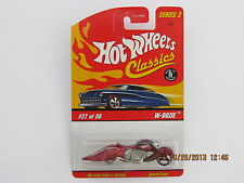 Hot Wheels 2006 CLASSICS SERIES 2 W-OOZIE MOTOR CYCLE BIKE RED BC CREASE B-LCL-P