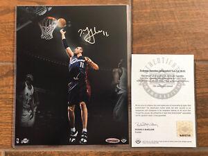 """Zydrunas Ilgauskas Cleveland Cavaliers signed """"SLAM"""" 8x10 UDA COA"""