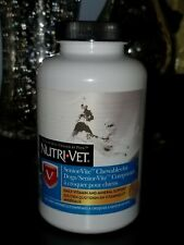 NEW NUTRI VET Senior Vite Chewables For Dogs 120 Ct Expires 03/21