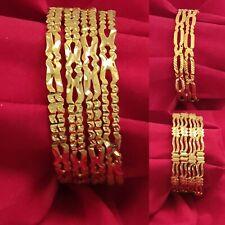 Indian Traditional Jewelry Bangles Fashion Bracelets Gold Plated Kada Size 2.6