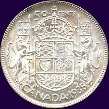 1938 Canada Silver 50 Cent Piece (11.66 grams .800 Silver)