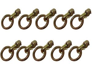 L Track Stud,Double Stud Fitting with Round Ring -B/S 5000 lbs - 10 Packs
