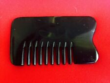 """3.7"""" STURDY POCKET SIZED WIDE BLUNT TOOTHED MASSAGE OX HORN COMB - UNIQUE!"""