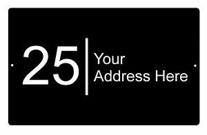 Custom Personalised Your Address Street Metal Aluminium Sign Door Plaque 5 Sizes