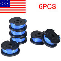 6 Pack String Trimmer Replace Spools Line Weed Eater Edger FOR Ryobi 18V 24V 40V