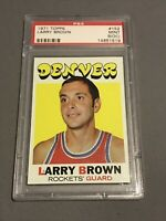 1971 Topps Larry Brown Rookie Card Psa 9