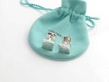 Tiffany & Co Silver Notes Square Cuff Link Cufflink Cufflinks!