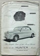 SINGER HUNTER / HUNTER S / HUNTER 75 Car LF Sales Brochure 1955-56