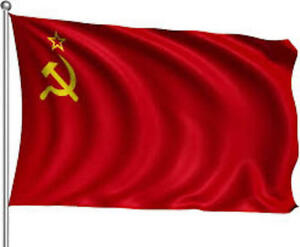 Giant USSR Soviet Union CCCP Communist Russian Red National Hammer & Sickle Flag