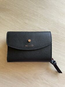 Mimco Small Black/rose Gold Wallet