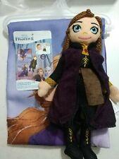 Disney Frozen 2 pcs: Bath Towel & Anna Scrub Doll Set Loofa Tub Time