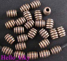 120Pcs Antiqued copper screw barrel spacer beads A628