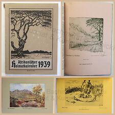 Afrikanischer Heimatkalender 1939 Illustrationen Kalendarium Deutsche Kolonien