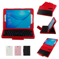 """Bluetooth Keyboard PU Leather Back Stand Case Cover For Samsung Galaxy 8"""" Tablet"""