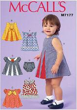 McCall's 7177 Sewing Pattern to MAKE Toddler Dresses & Panties NB-XL