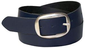 FRONHOFER Women's belt, oval antique silver buckle, chic genuine leather belt