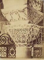 Ravenna Dettaglio Di Architettura Italia Vintage Albumina, Ca 1880